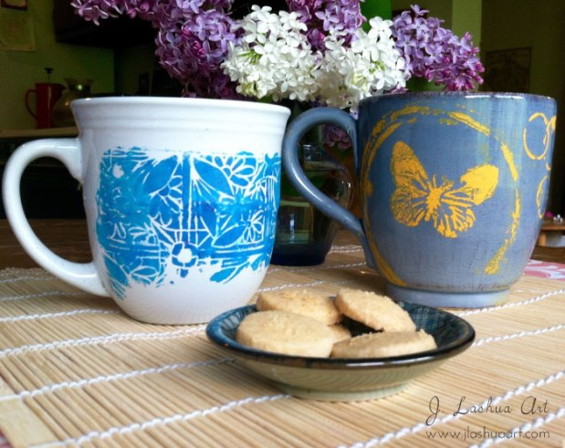 mugs-butterfly-&-distressed  J.Lashua art