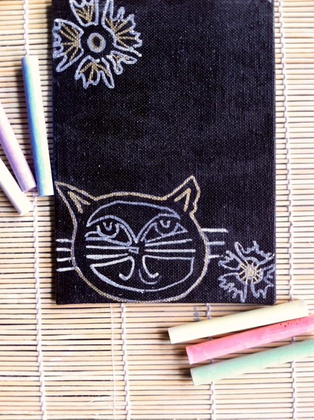 Cat w:flower J.Lashua art
