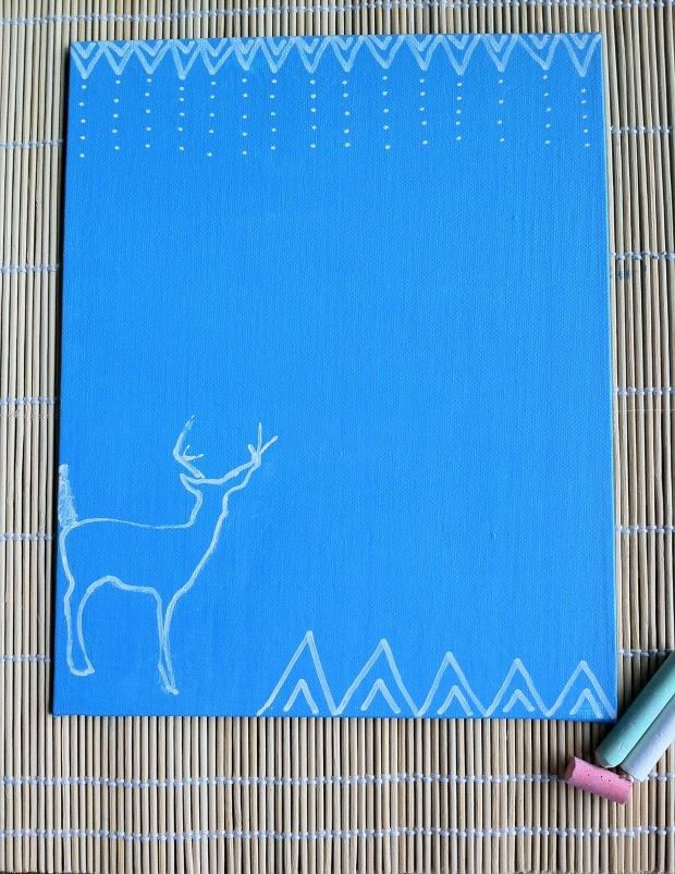 Deer Chalkboard J.Lashuaart