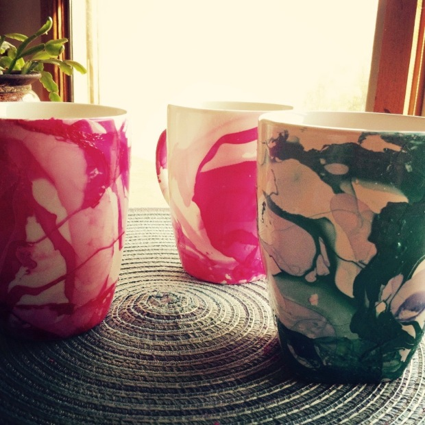 Marbeling mugs
